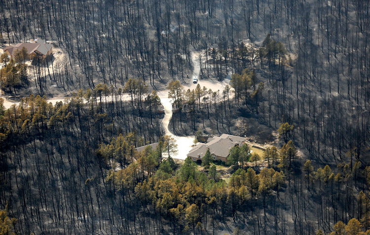On June 11, 2013, a small fire in Black Forest, Colorado, quickly turned into an inferno, rapidly moving east, and then on June 12, turned north. It consumed 15,000 acres, over 500 homes, and 2 lives. It is the most destructive fire in Colorado history, and occurred only 1 year after the devastating Waldo Canyon fire.