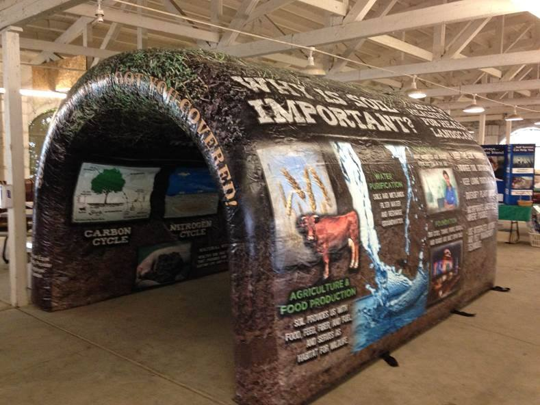 EPCCD partners with NRCS and The NRCS Soil Scientist, Jeff Goats, where we go to local schools with the soil tunnel and educate students on the importance of healthy soil.