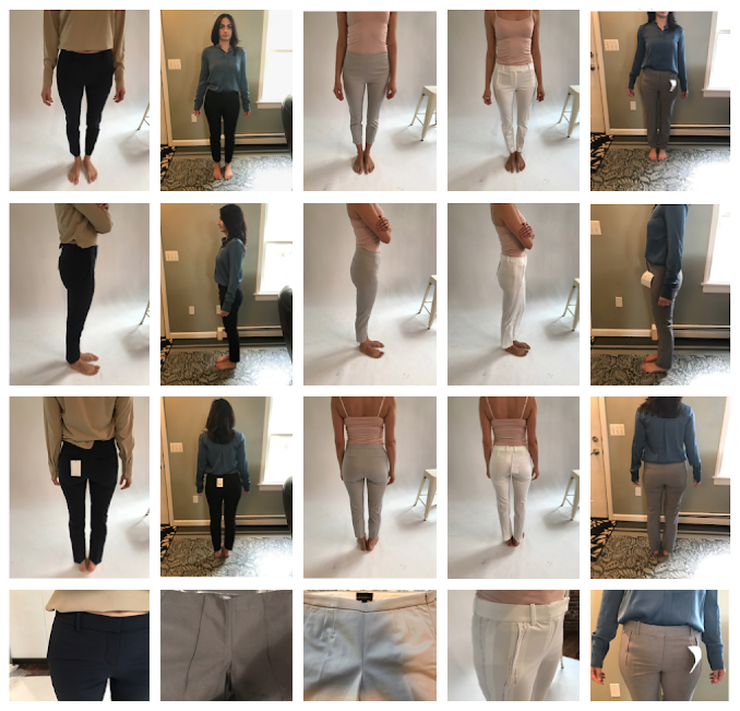 Some photos from our fit analysis of customers' favorite pants to understand how the Kinetic should lay.