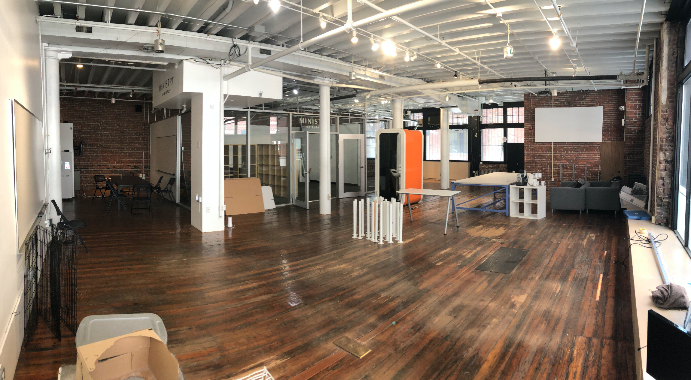 Final hours in our old office.