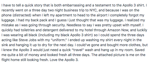 Had to share this review…
