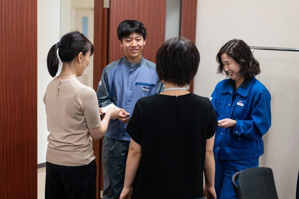 Meeting the team at Toray, Japan.
