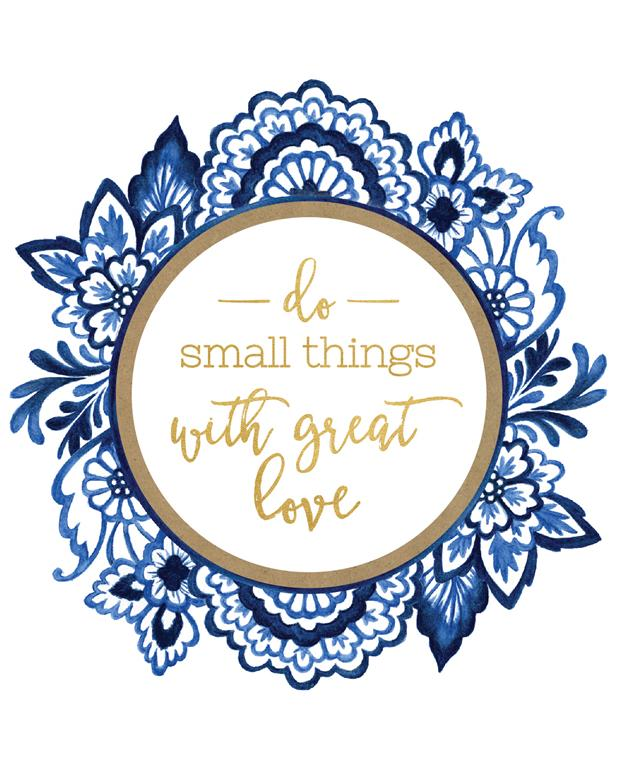 Do small things with great love quote Watercolour Illustration by Alicia's Infinity - www.aliciasinfinity.com