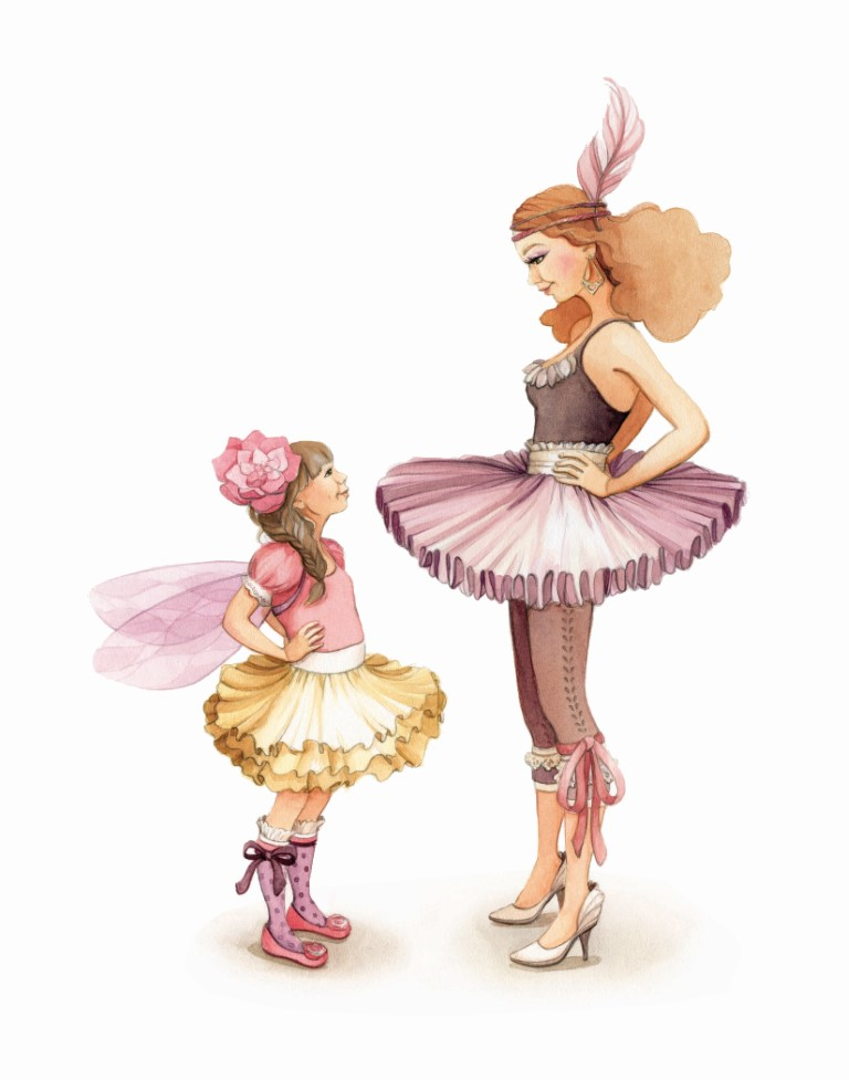 """Dress up"" Ballerina Watercolour Illustration by Alicia's Infinity - www.aliciasinfinity.com"