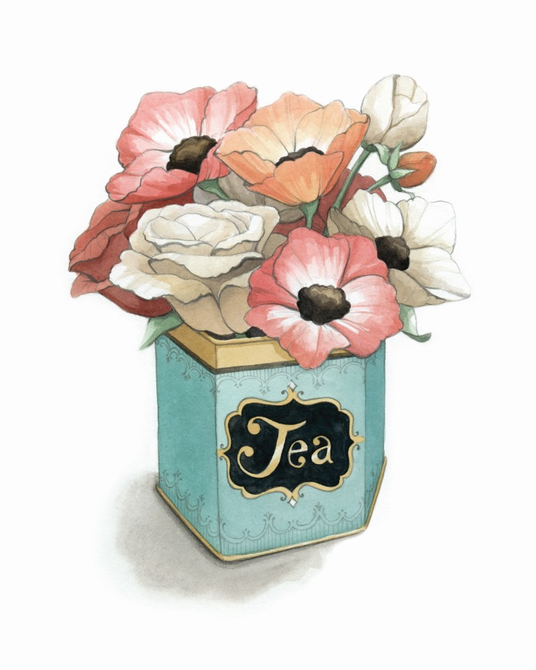 Vintage Tea Tin Watercolour Illustration by Alicia's Infinity - www.aliciasinfinity.com