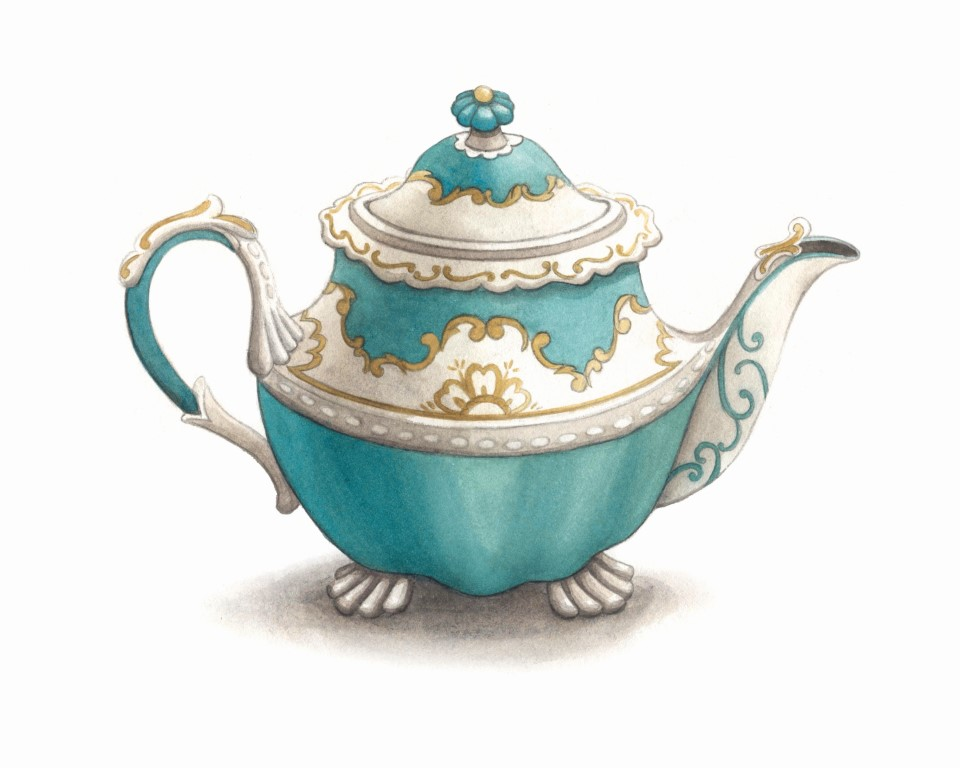Vintage Teapot Watercolour Illustration by Alicia's Infinity - www.aliciasinfinity.com