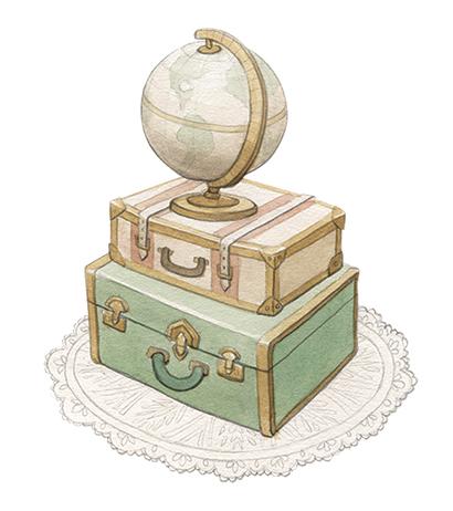 Globe on Vintage Luggage (Medium).jpg