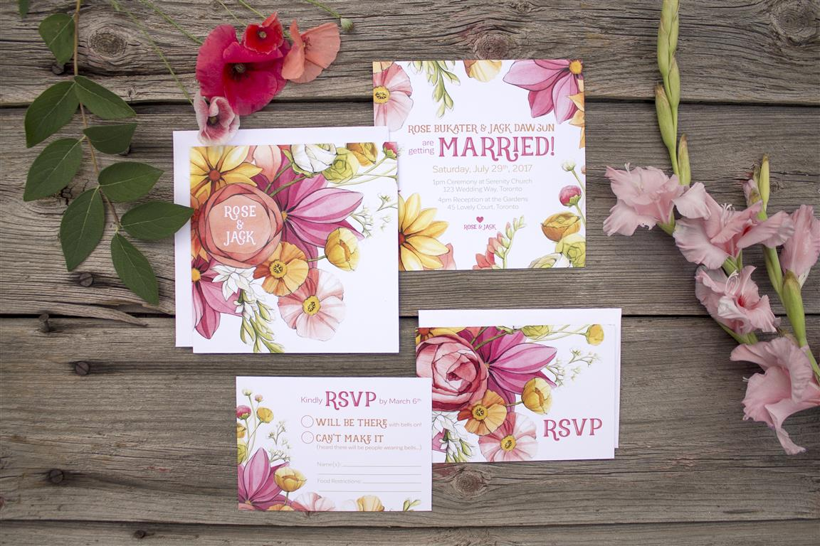 Bright Citrus and Coral Floral