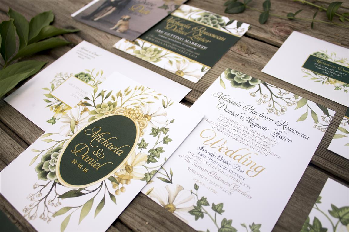 Botanical Enchanted Forest Wedding Invitations by Alicia's Infinity - www.aliciasinfinity.com