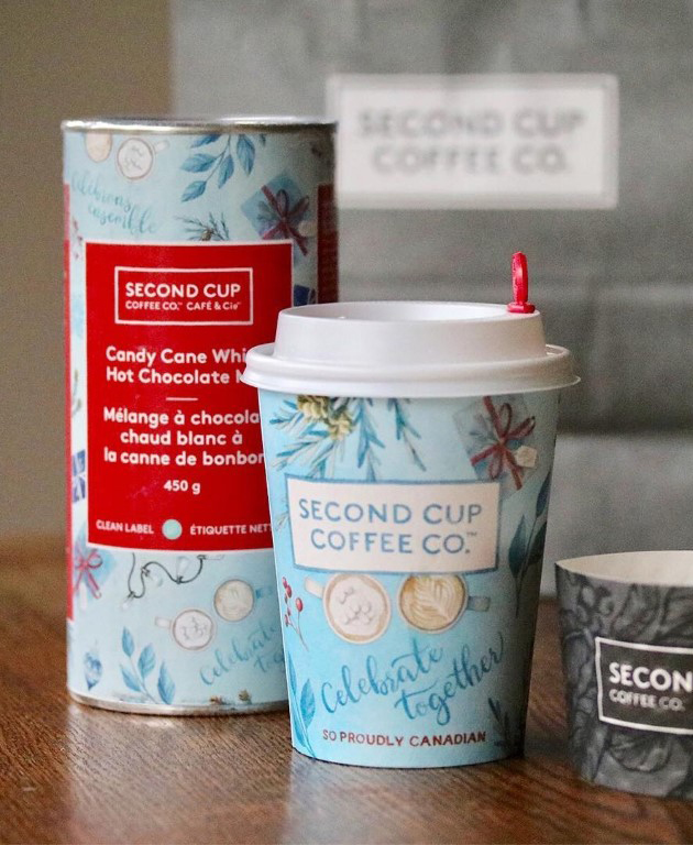 Alicia's Infinity Illustrations for Second Cup Coffee Holiday Cup 2018 Campaign - www.aliciasinfinity.com