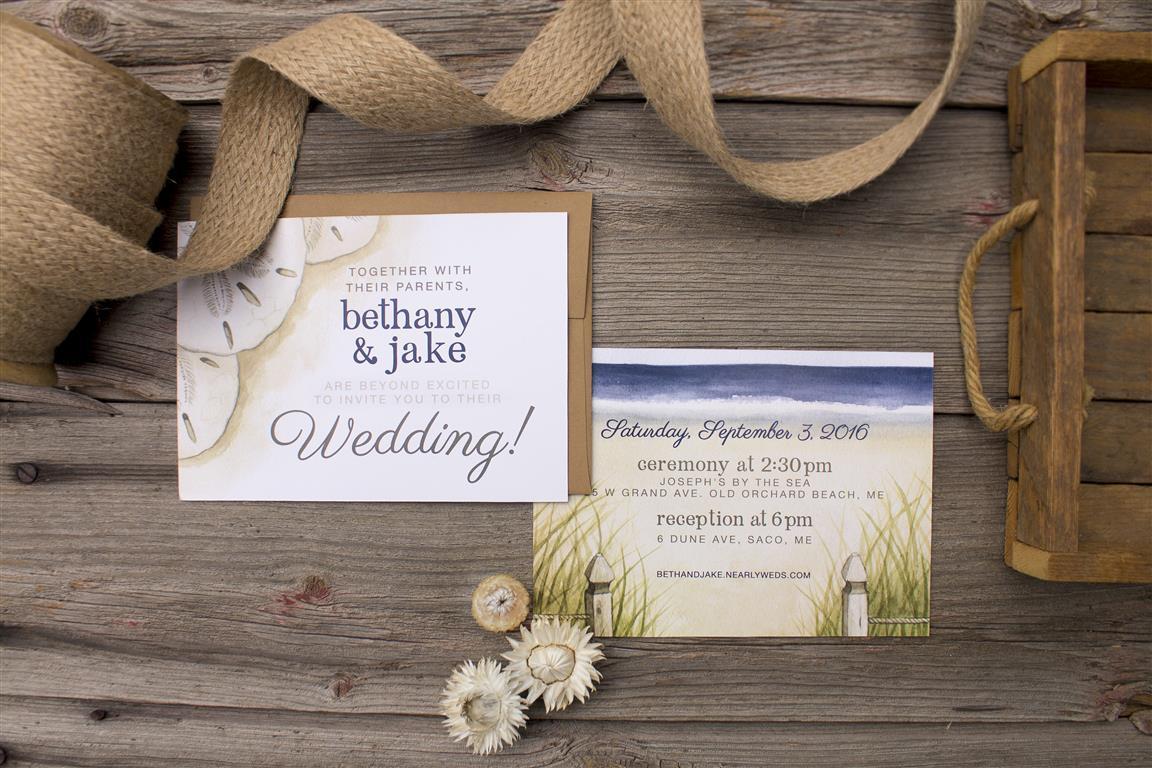 Nautical Sand Dollar Beach Wedding