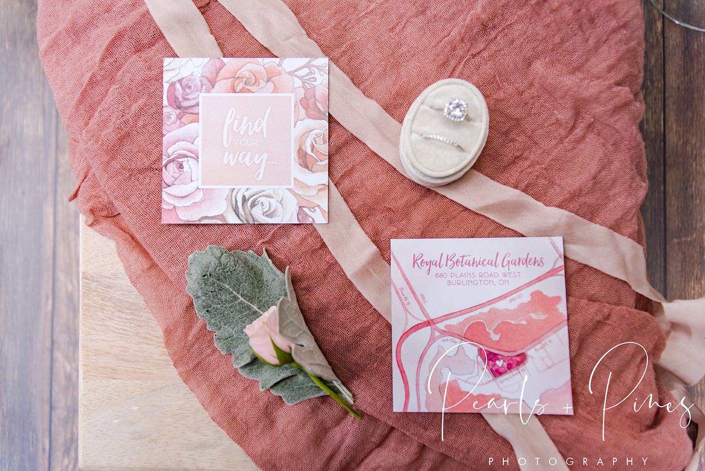 Blush Rose Gold Floral Wedding Invitations by Alicia's Infinity - www.aliciasinfinity.com