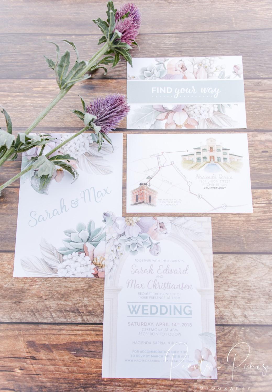 Hacienda Sarria – Blush, Sage and Lilac Wedding Invitations by Alicia's Infinity -  www.aliciasinfinity.com