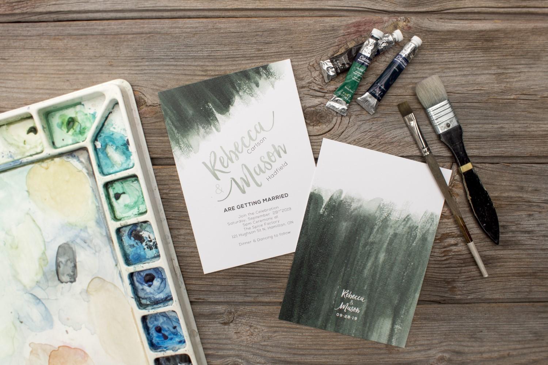 Brush Lettering Watercolour Wash
