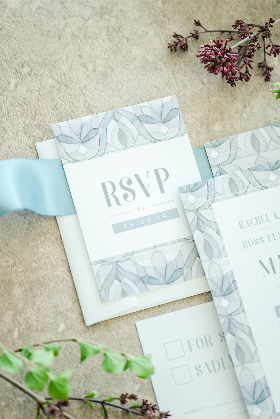 Ornate Tile Watercolour Pattern Wedding Invitations by Alicia's Infinity -  www.aliciasinfinity.com
