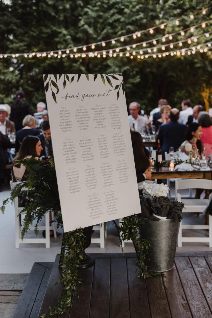Greenery Garland Wedding Invitations by Alicias infinity - Photos by Hugh Whitaker (Seating-Chart (Large).jpg