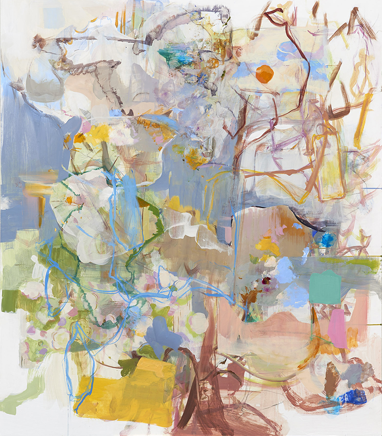 Words on Branches    2014  acrylic on gatorboard panel  55 1/2 x 48 in.