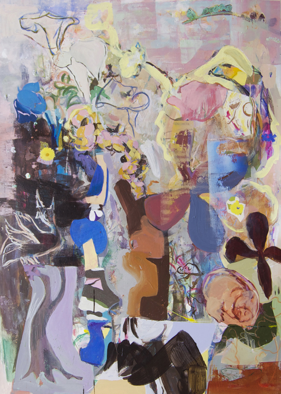 Propellers    2011  acrylic & mixed media on gatorboard  48 1/8 x 34 1/2 in.