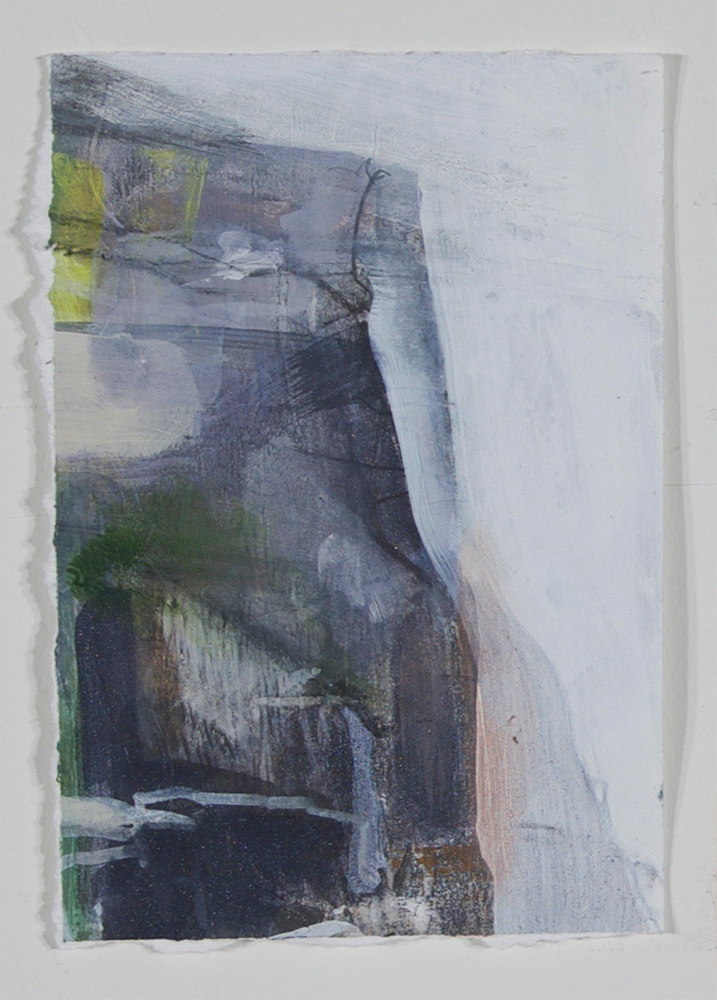Ridge    2018  acrylic and graphite on paper  7 x 4 7/8 in.
