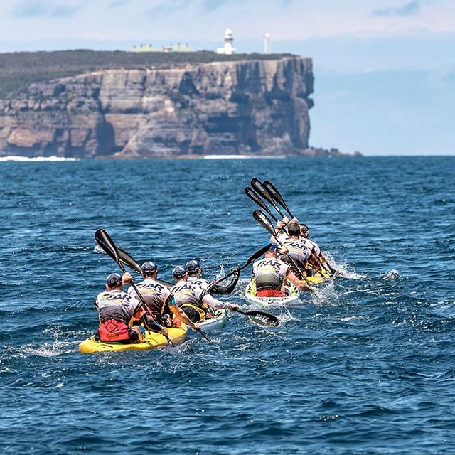 Longer races mean more options for epic ocean paddling. _  #adventureracing #adventure #traillife #getoutside #outdoorlife #explore #getoutdoors #mountainbike #mtb #trailrun #paddle #kayak #run #xpd #arworldseries #p #24hr #geoquest #48hr #expedition #visitnsw #southcoastnsw #husky #terranova24