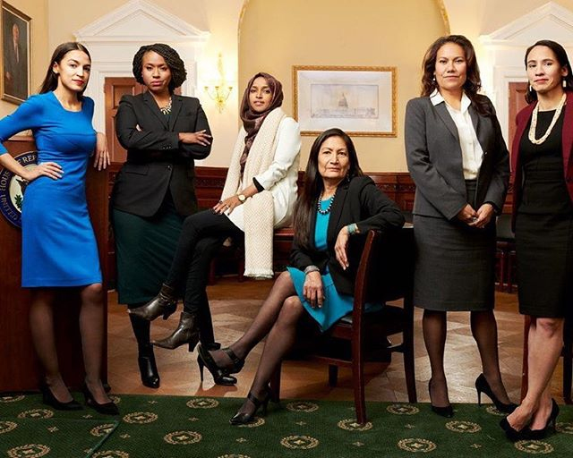 This is our favorite girl group 🥰 Happy swearing-in day to these baddies and many more who represent America ***flawlessly! (📸: @martinschoeller/@vanityfair) • • #dopeism #empower #minorities #womensupportingwomen #bossbabe #bosslady #motivation #lgbtqpride #blog #website #writersofinstagram #thehappynow #girlpower #womenempowerment #woman #strength #feminism #confidence #instastrength #116thcongress #demstakethehouse