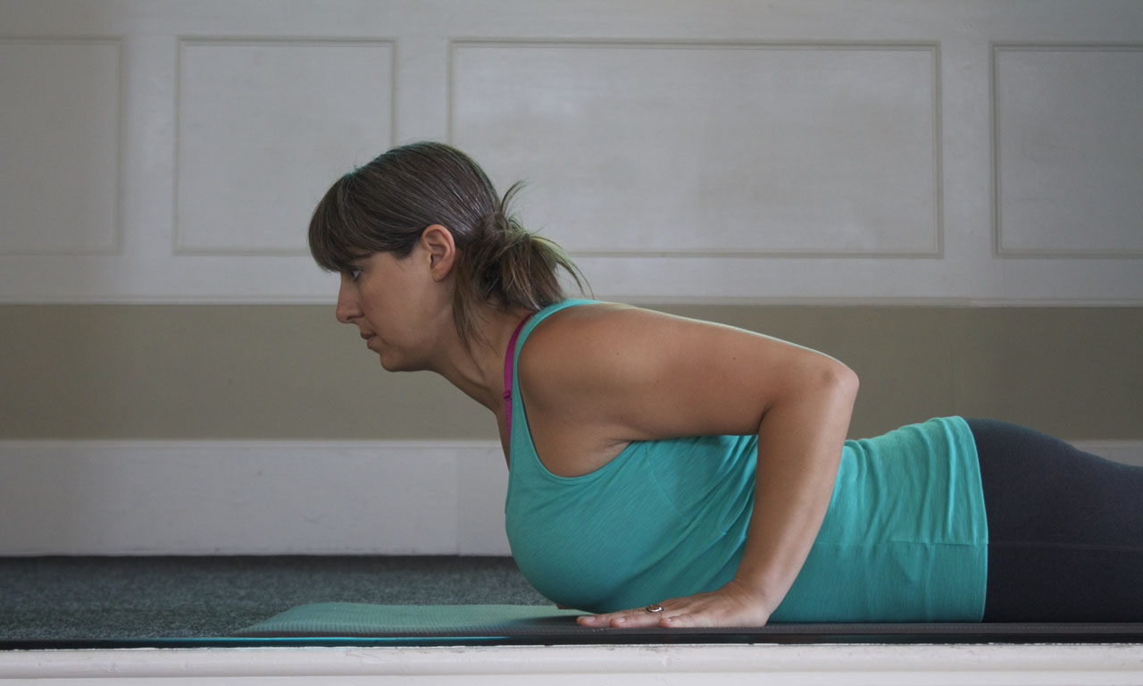 - Cobra is about using the spinal muscles, not pushing yourself up with your hands. Place hands under elbows for good leverage in the PULLING action that activates the Lats.