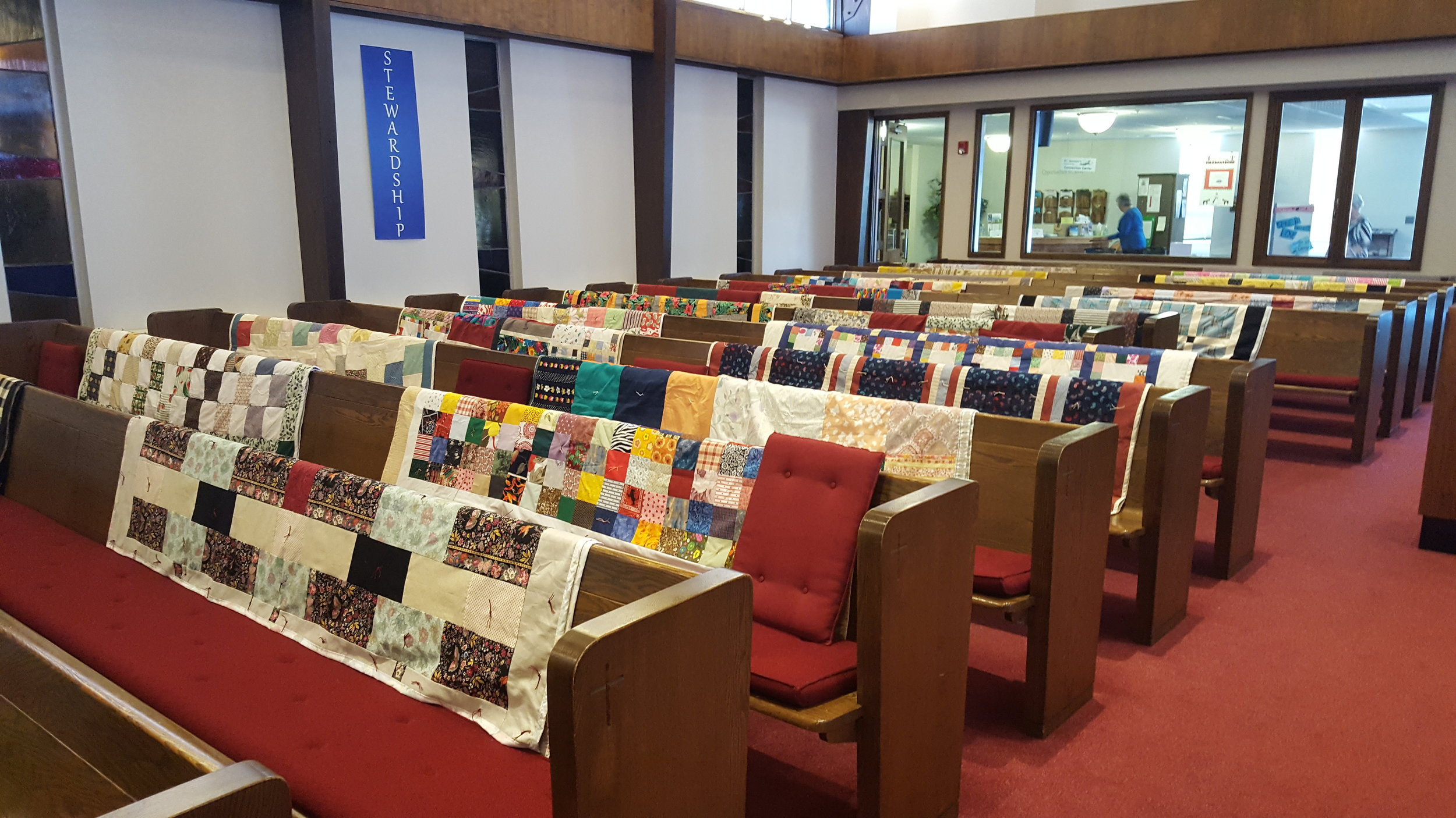 Some of our quilters' beautiful handiwork!