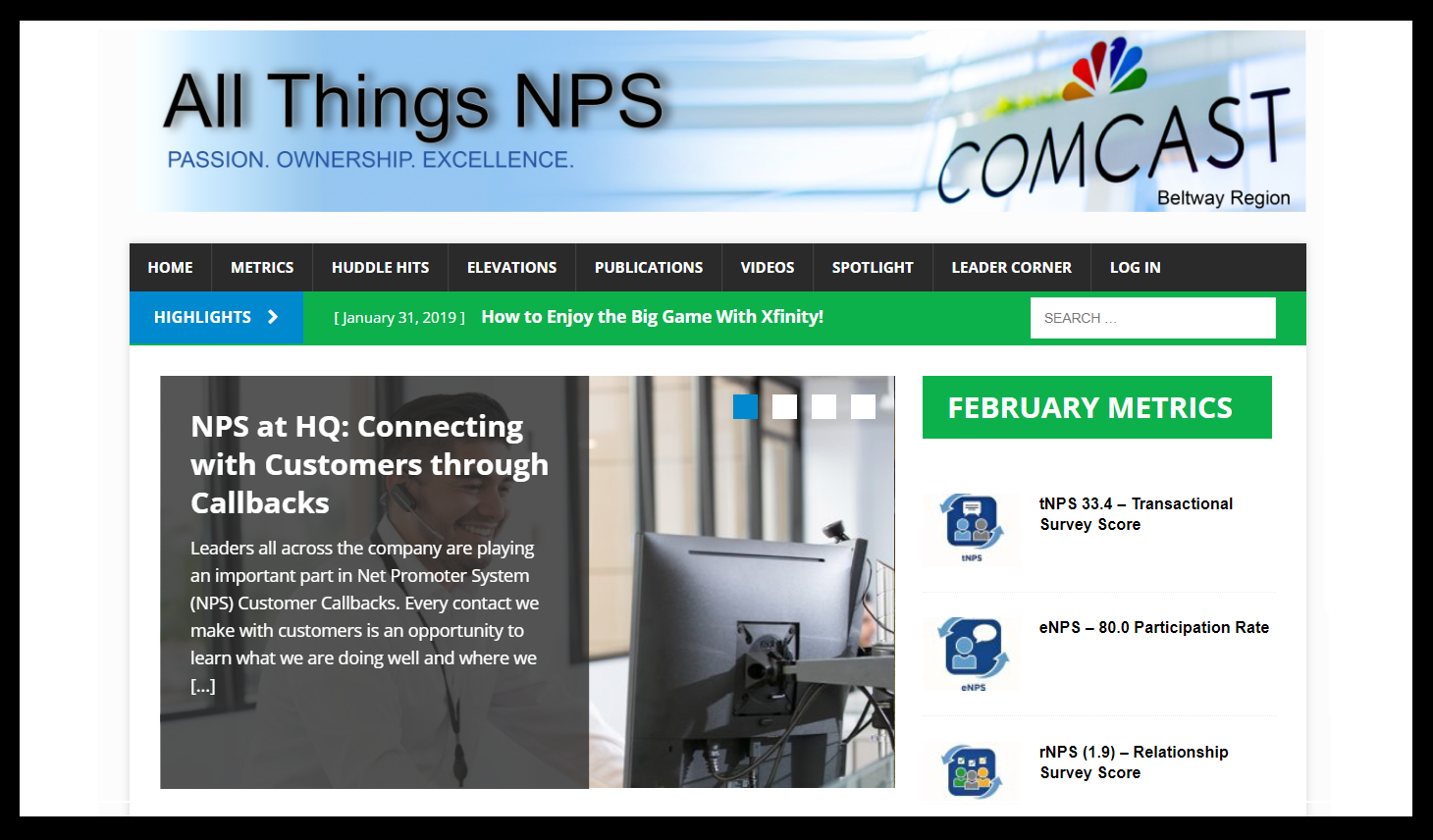 Comcast All Things NPS - All Things NPS is an internal centralized website for employees. In 2018 Comcast reached out to Marvin Louis Moore to create a one stop shop website portal for employees to find: NPS news, resources…
