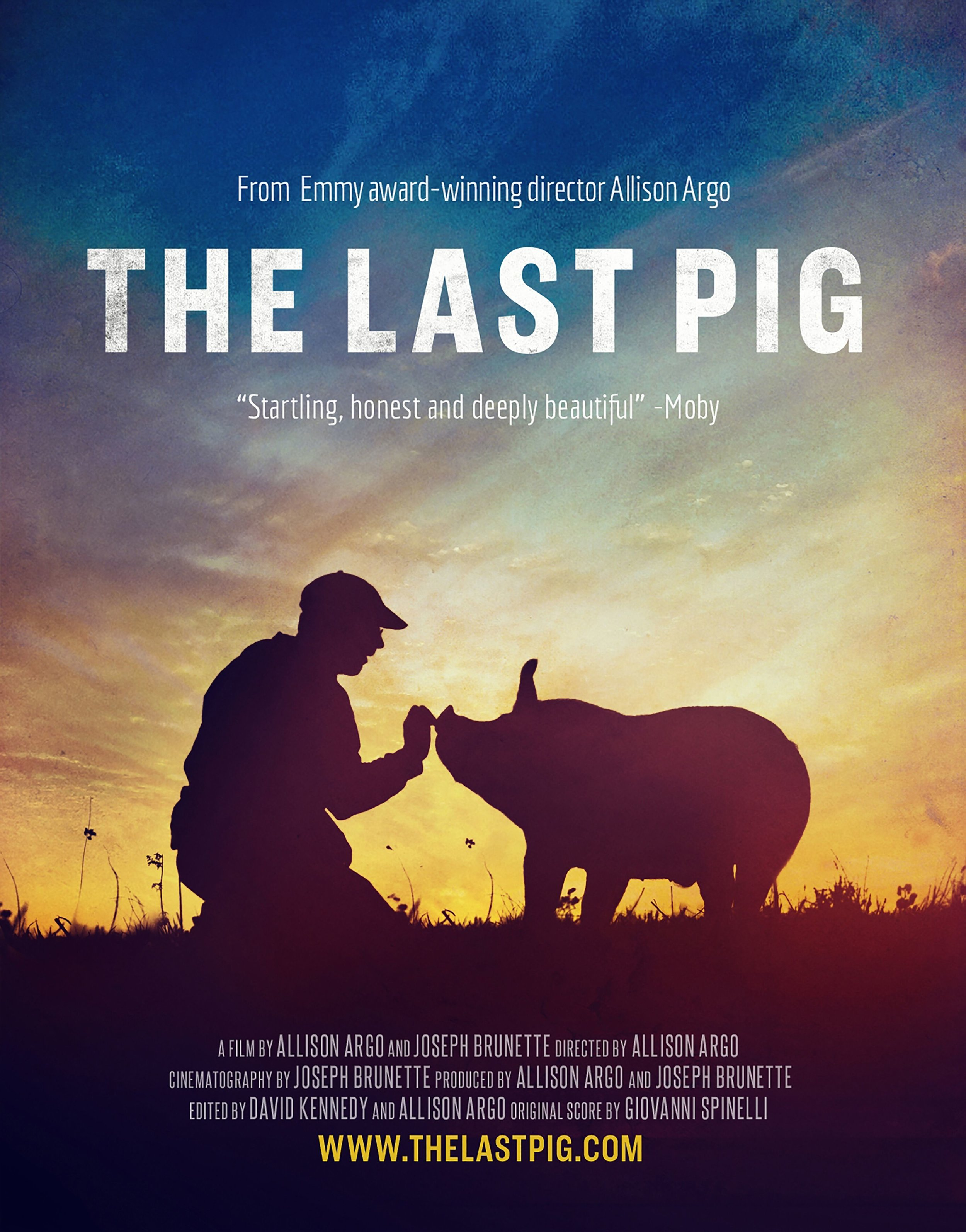 THE LAST PIG: 11 AM - Through this personal journey, THE LAST PIG raises crucial questions about equality, the value of compassion and the sanctity of life. Comis' soul-baring narrative carries us through his final year of farming pigs, the struggle to reinvent his life, and the ghosts that will haunt him forever.Run time: 53 minutes