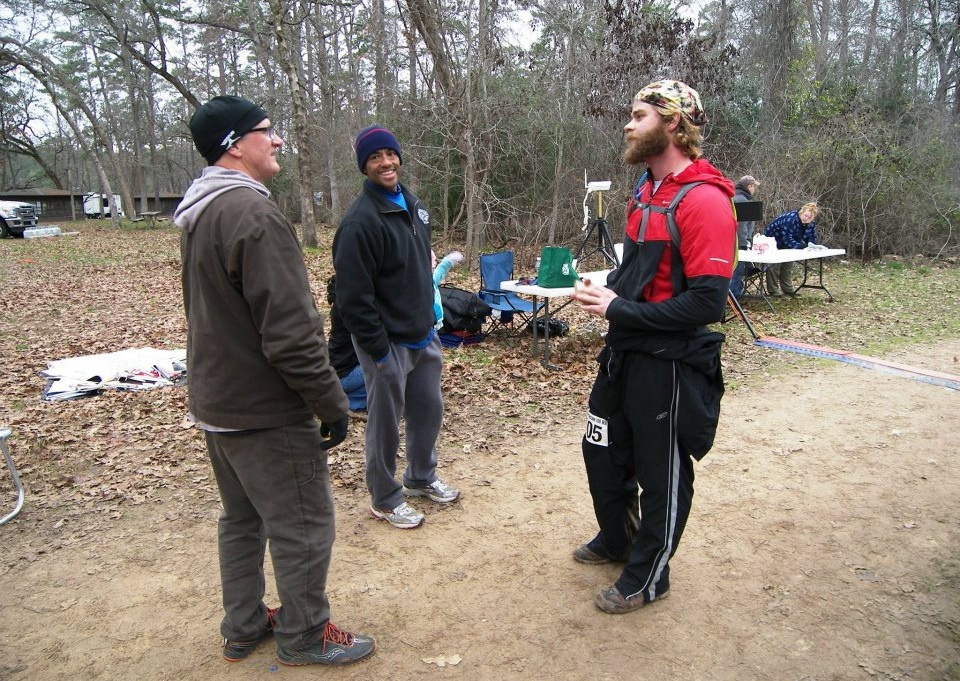 Author John Budge with his new buckle at the 2012 Rocky Raccoon 100  (Photo: Ciara Griffin)