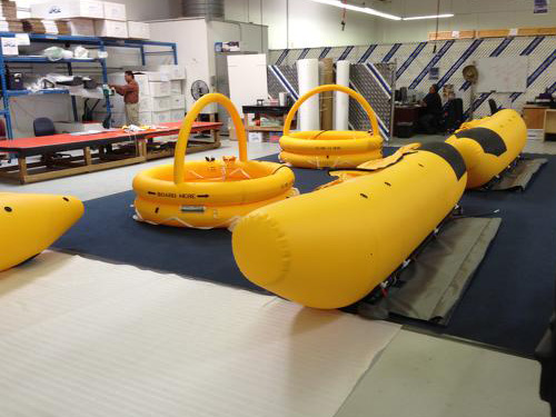 Float and Life Raft System during a 36 month major inspection.