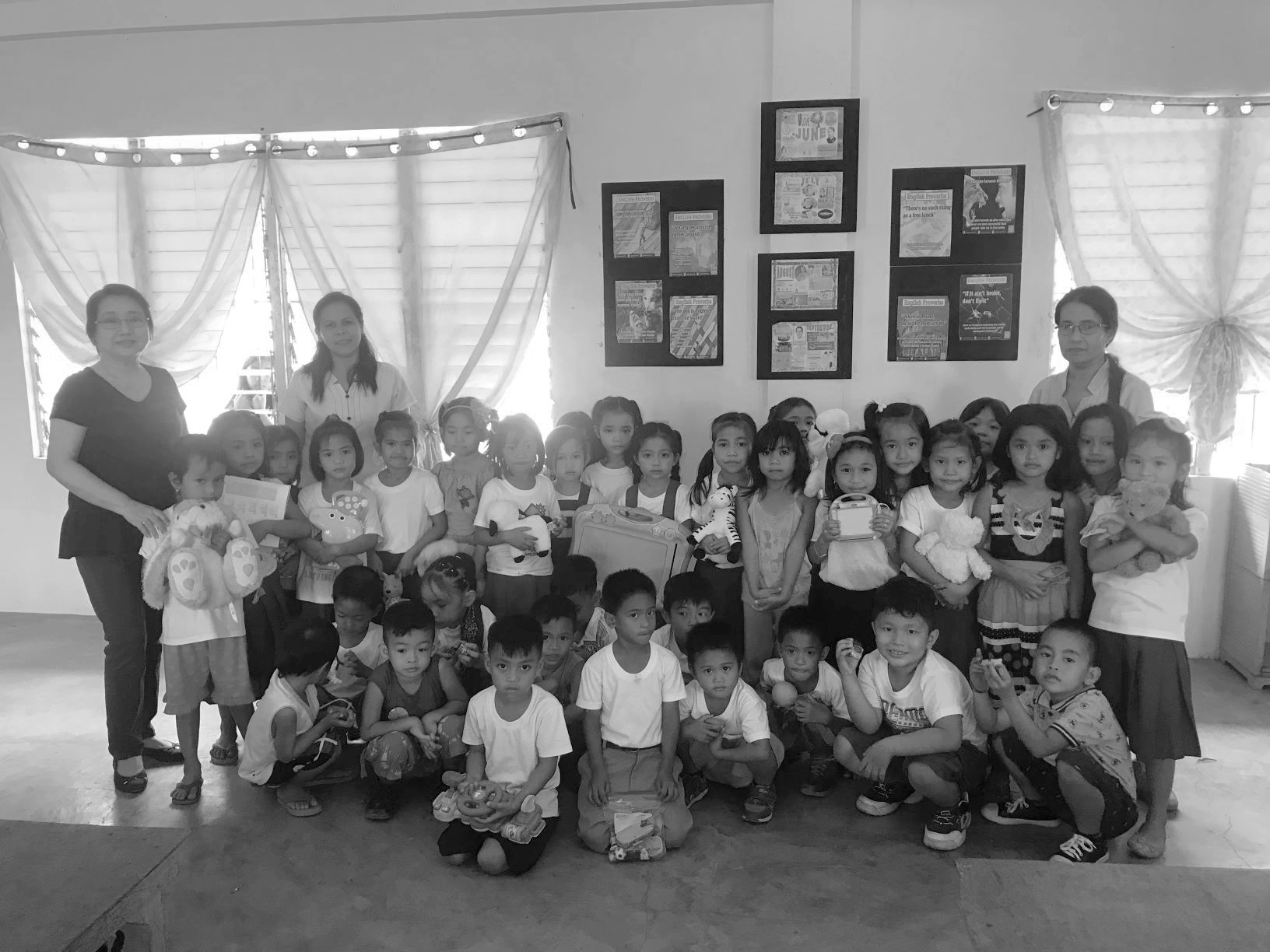 Community Links - We've also established community links in the Philippines, whereby Vicky and the UK team collect clothes and toys for the children of farmers in typhoon prone local villages. The company has also contributed towards a typhoon recovery programme and helped sponsor the building of a Kindergarten.