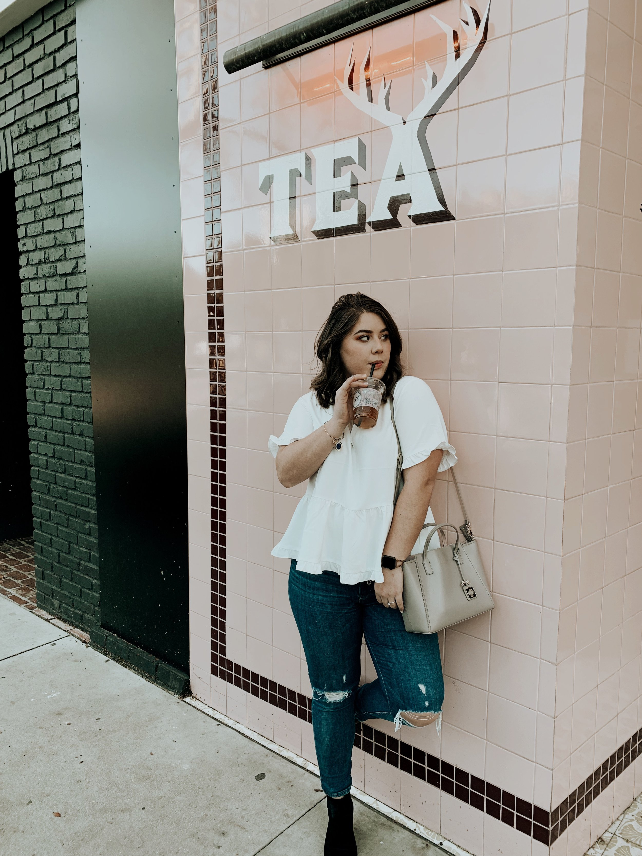 My Outfit : Top: Madewell | Jeans: Levis | Bag: Kate Spade