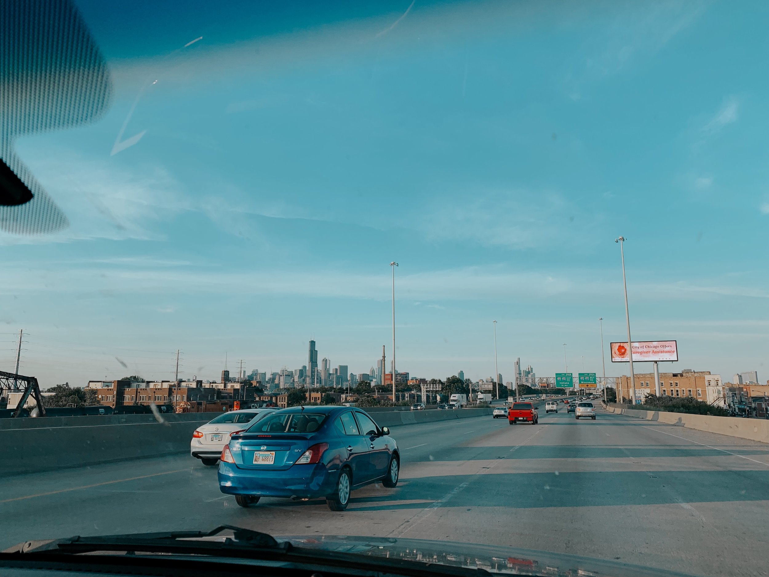 Driving into Chicago was so surreal. It finally hit me that we weren't going home and that Edwin and i really were about to start a whole new chapter of our lives together.