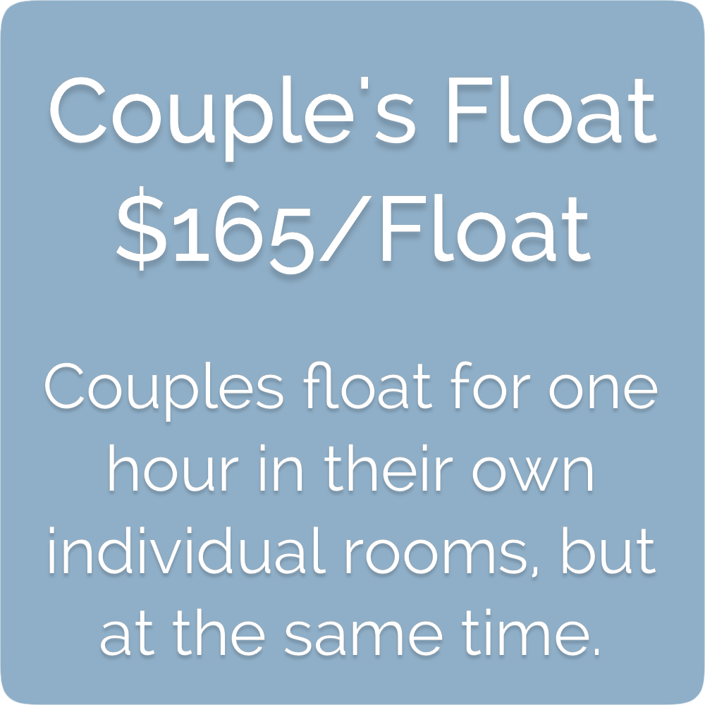 Float Realm Float Therapy in Saratoga near San Jose, Bay Area. Sensory Deprivation Tanks. Float Tanks. Couple's Float- $165