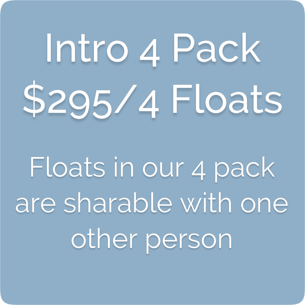 Float Realm Float Therapy in Saratoga near San Jose, Bay Area. Sensory Deprivation Tanks. Float Tanks. float 4 pack- $295