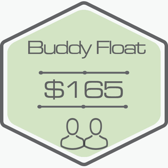 - One Hour Float TimeTwo Private RoomsAll Essentials Included