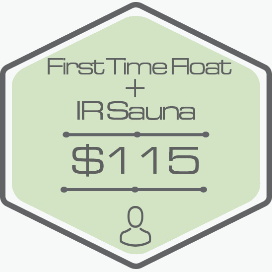 - One Hour Float TimePrivate Room40 Minutes Private IR Sauna AccessAll Essentials Included