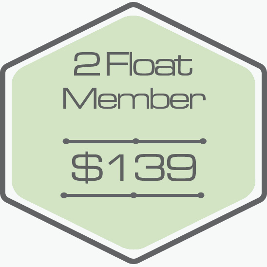 - -2 One Hour Floats Per Month-Unlock $70 Add On Floats-Bring a Friend for $60 (Call To Book)-Unused Floats Roll Over-Unlock $35 Add On Private IR Sauna (Call To Book)-Private Room-All Essentials Included