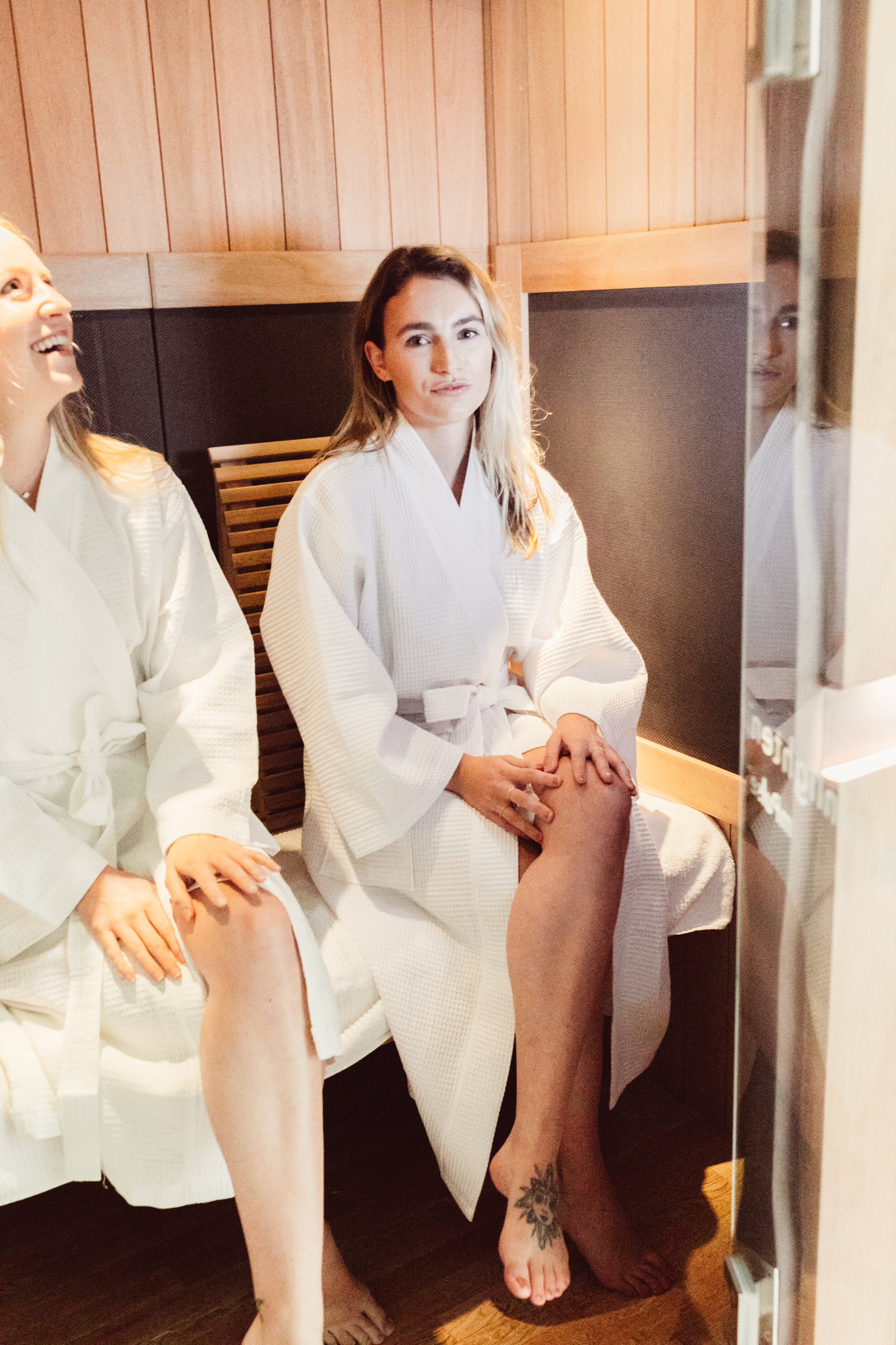 Our sunlighten infrared sauna. Add an infrared sauna session to your next float therapy session at float realm. Floating and sauna combine for two hours of prime self care!