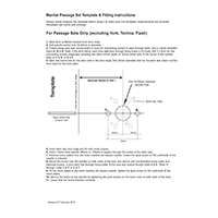 Manital Lever passage set template & fitting instructions - click here