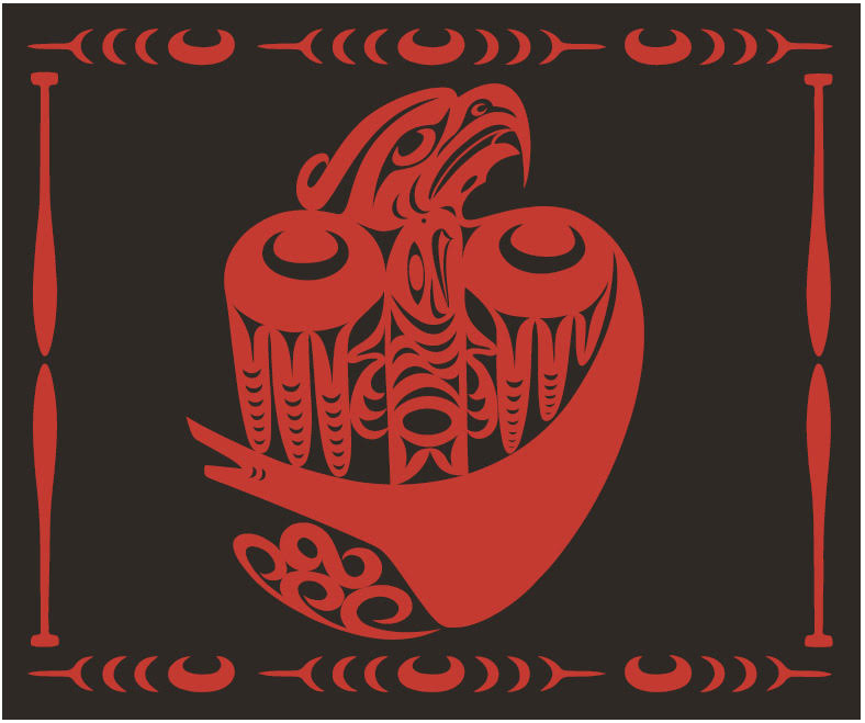 Design for this year's Paddle to Lummi Blanket, by Al Charles