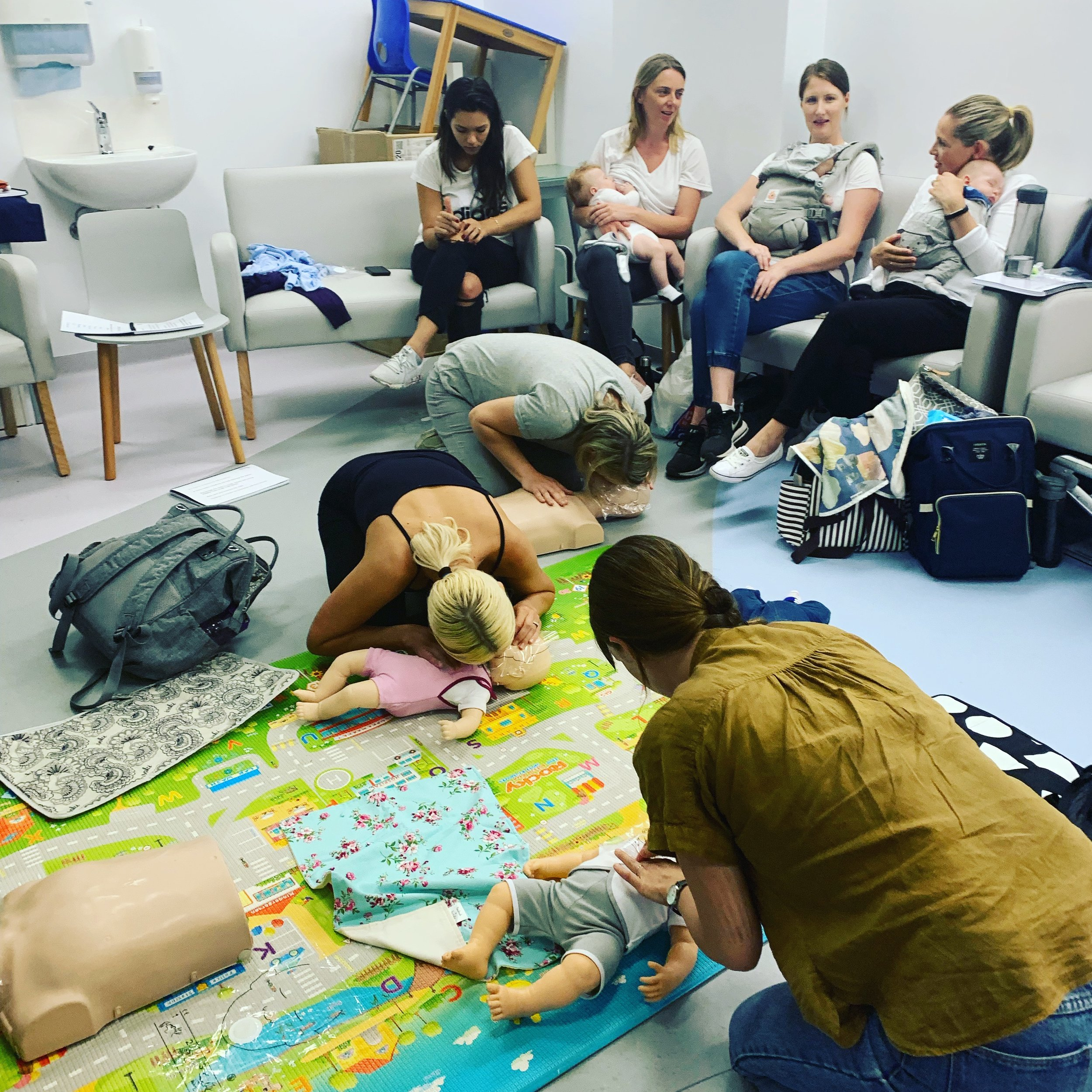 Our Classes - In our classes you will get hands on skills with our manikins, administer an Epipen and wrap a triangular bandage just for starters!Come armed with all your questions for us too on everything child health related.
