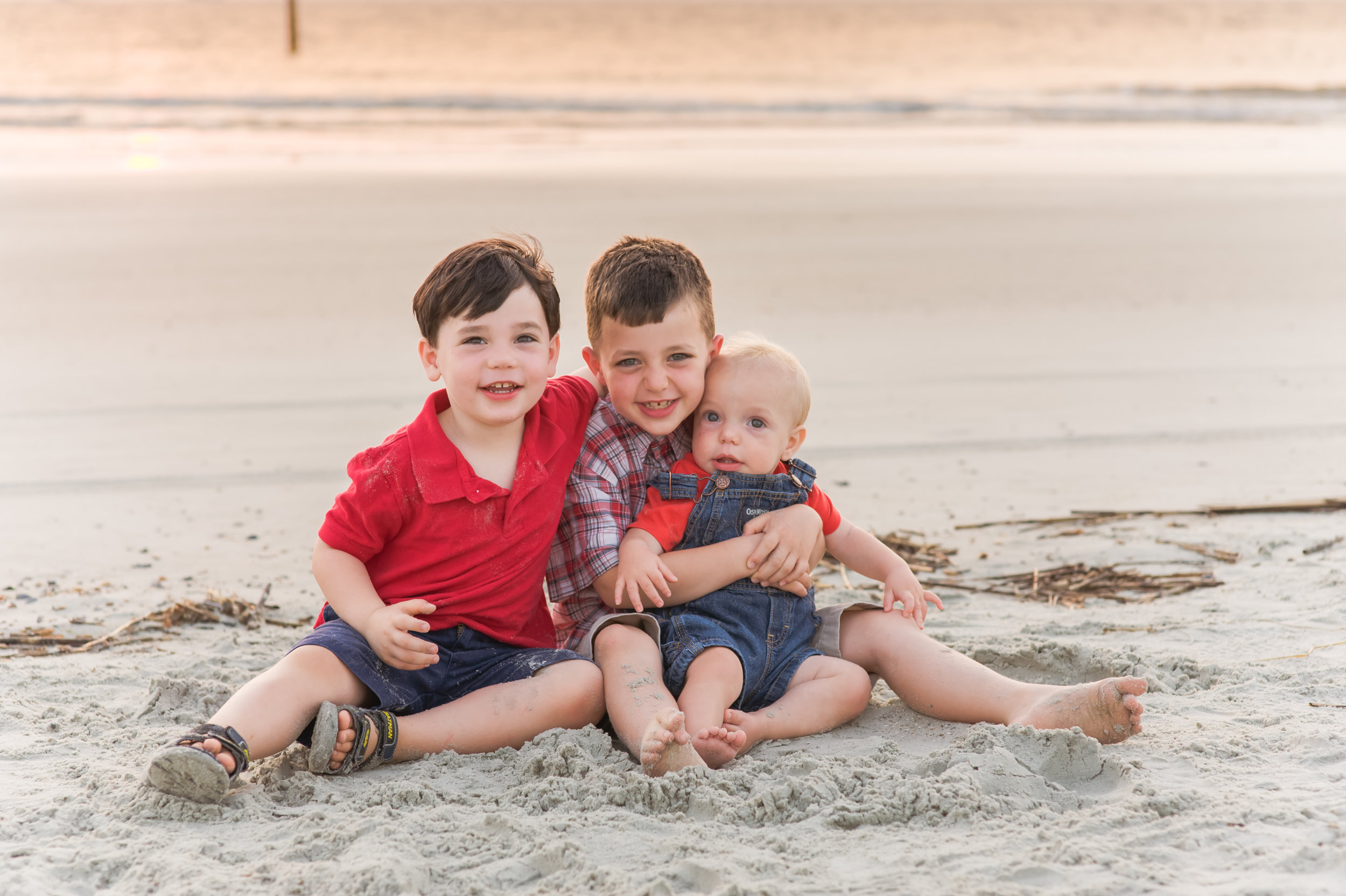 three brothers on the beach with junebug photography studio in manhattan, ks