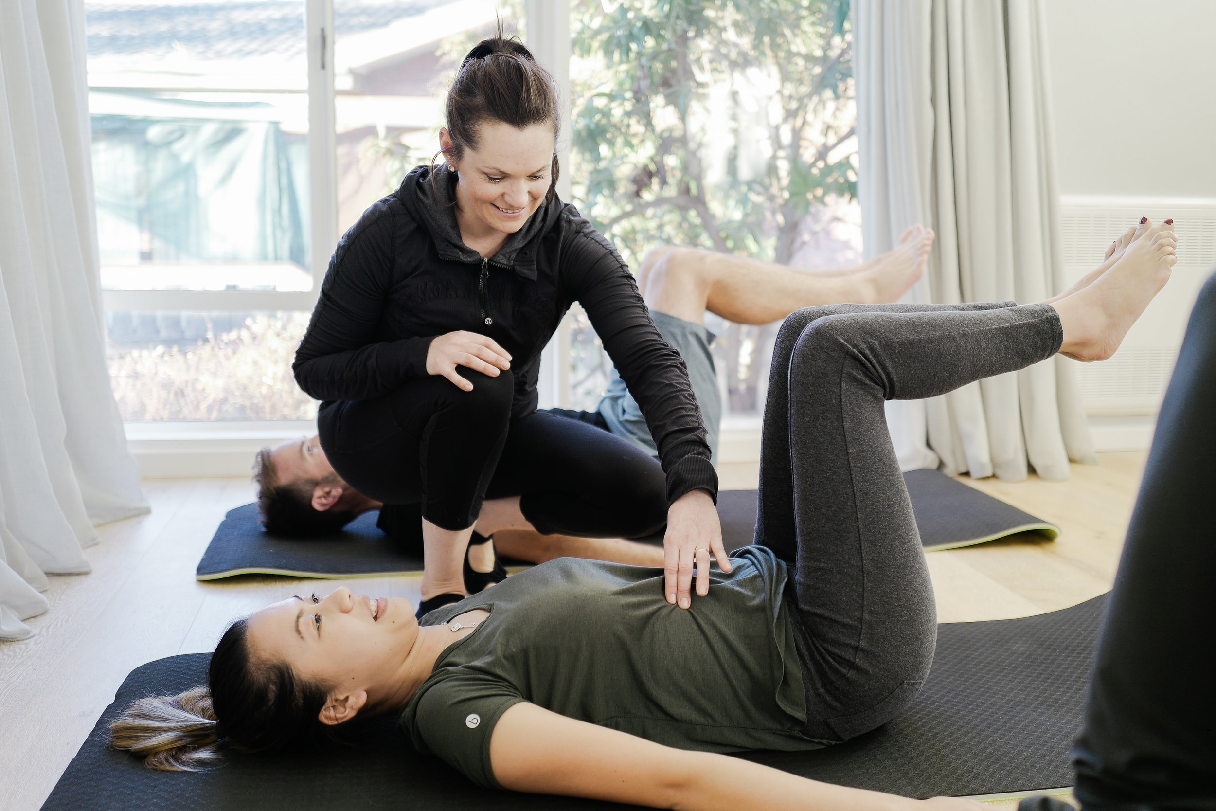 Duet - Duets provide tailored classes for specific needs and are shared with another person. This option suits individuals who would like to attend with a partner , friend or another client and who are familiar with the pilates basics. $50 per hour
