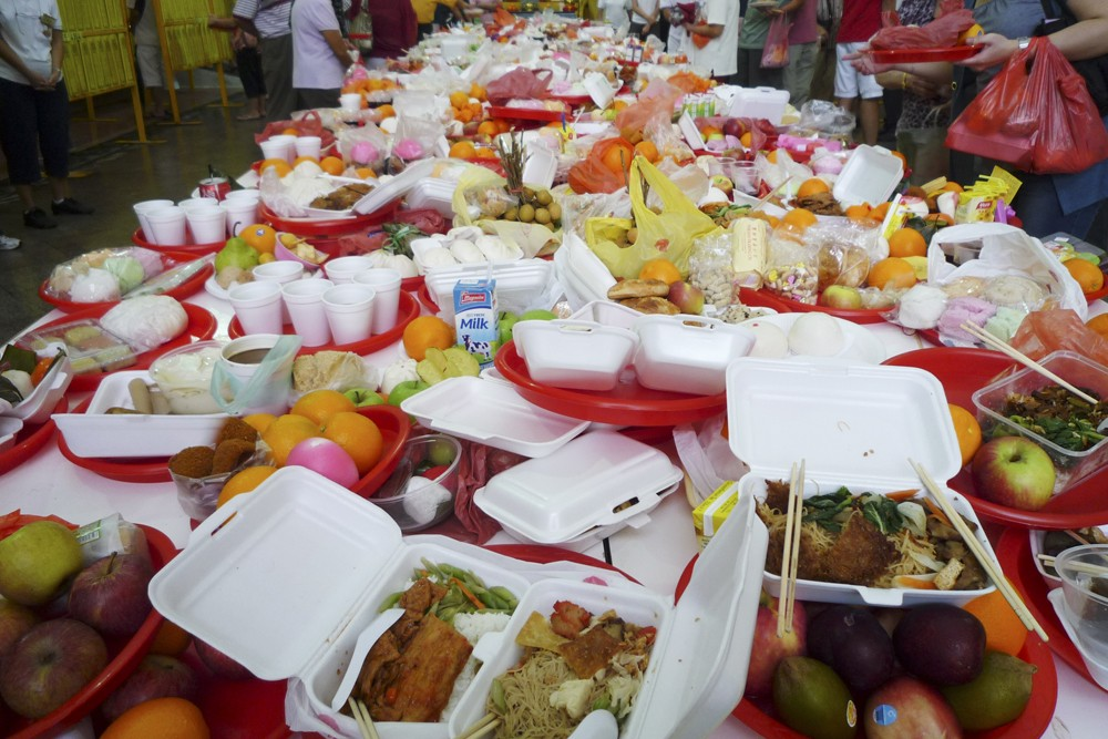 In 2018, there were 809,800 tonnes of food wastage. - Source: National Environmental Agency