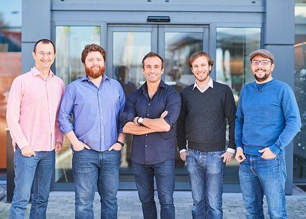 Our founding team: Atanas, Stephan, David, Nicolas and Cédric