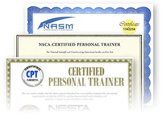 Image is PT certifications