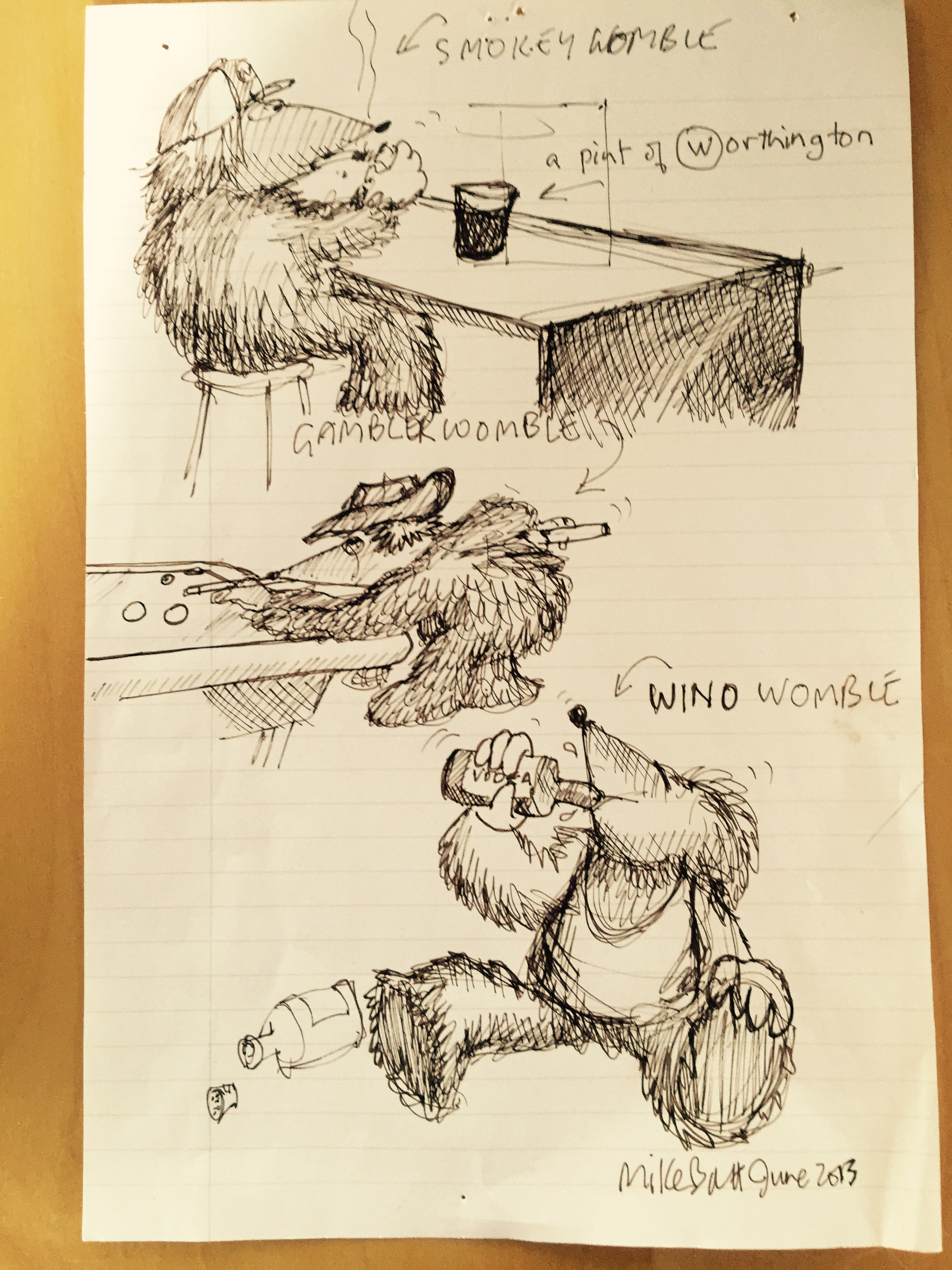 Naughty Womble sketches