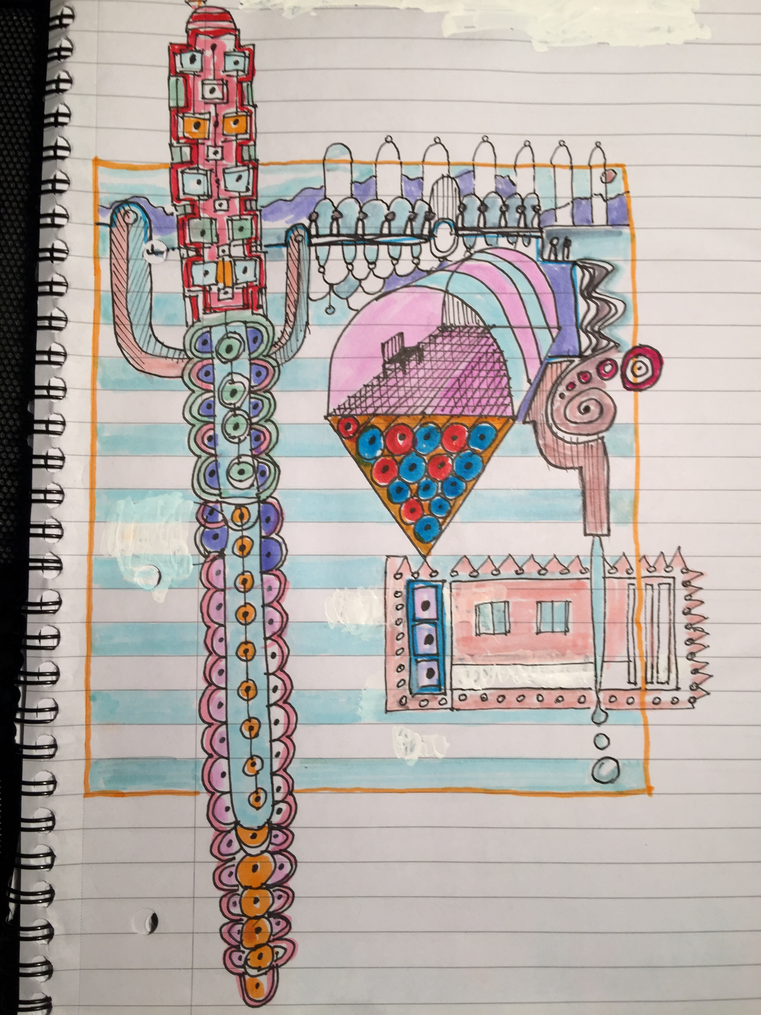 Notebook totem doodle